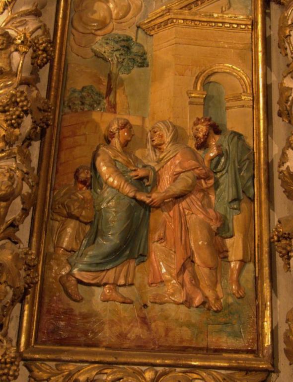 Retable de la chapelle du Rosaire - La Visitation