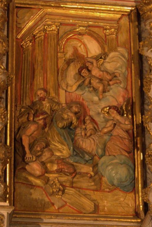 Retable de la chapelle du Rosaire - La Nativité