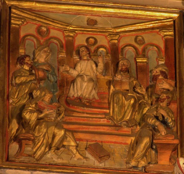 Retable de la chapelle du Rosaire - Jésus discute avec les docteurs de la Loi