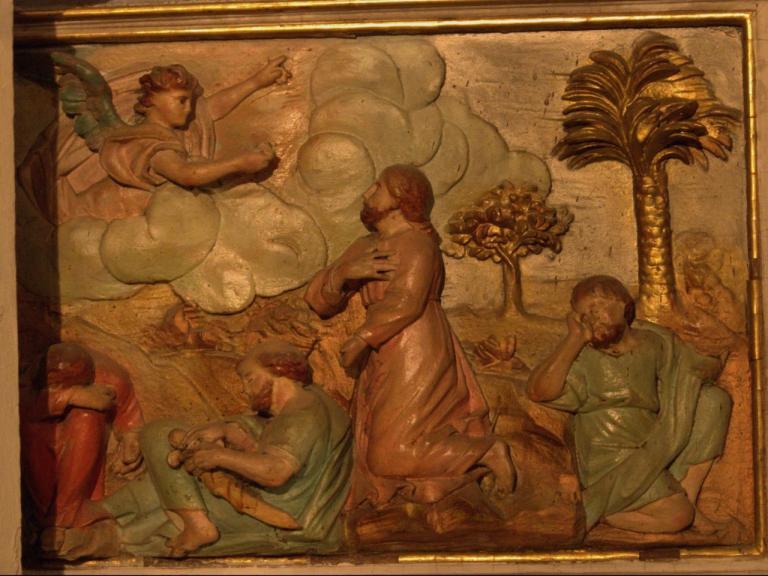Retable de la chapelle du Rosaire - Jésus au mont des oliviers
