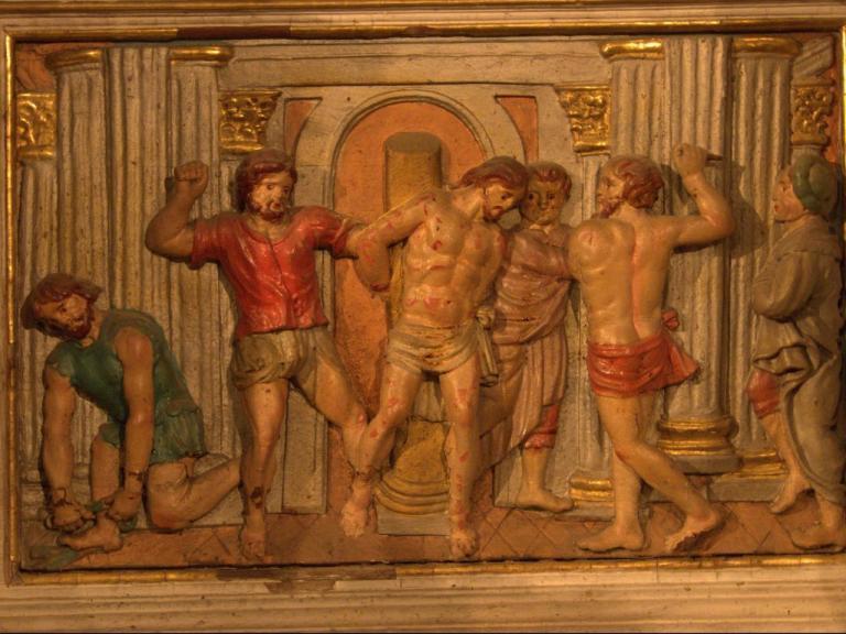 Retable de la chapelle du Rosaire - la flagellation du christ