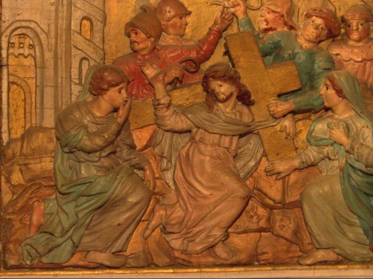 Retable de la chapelle du Rosaire - Jésus portant la croix