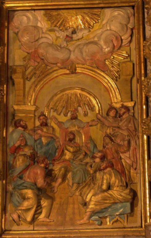 Retable de la chapelle du Rosaire - La Pentecôte
