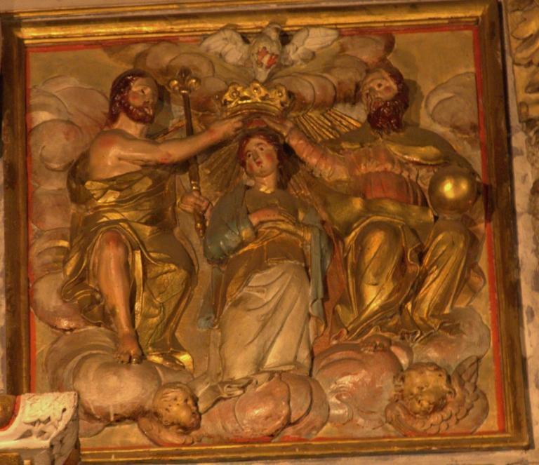 Retable de la chapelle du Rosaire - Le couronnement de la Vierge
