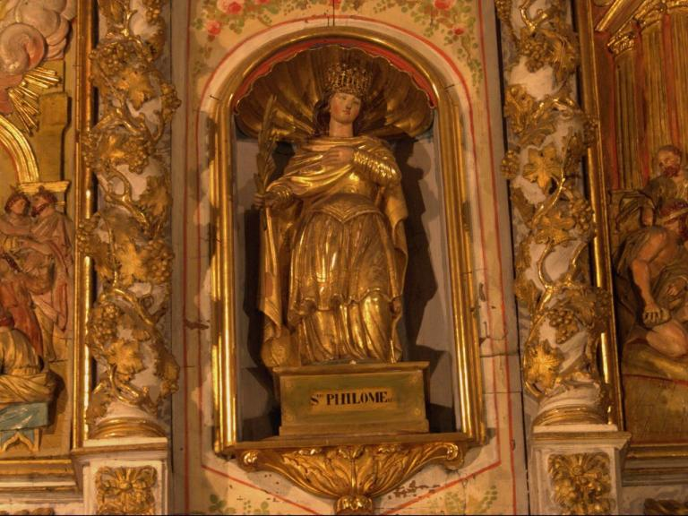 Retable de la chapelle du Rosaire - Sainte-Philome