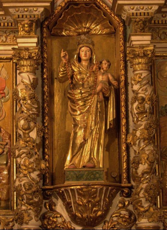 Retable de la chapelle du Rosaire - Détail
