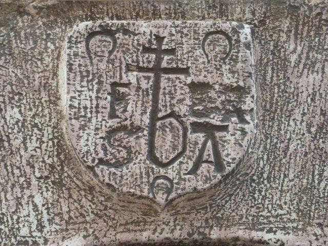 31 Carrer de la Placeta - Blason avec croissants de lune et monogramme