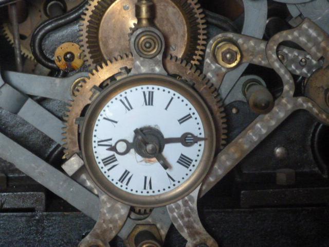 Mécanisme de l'horloge de l'église