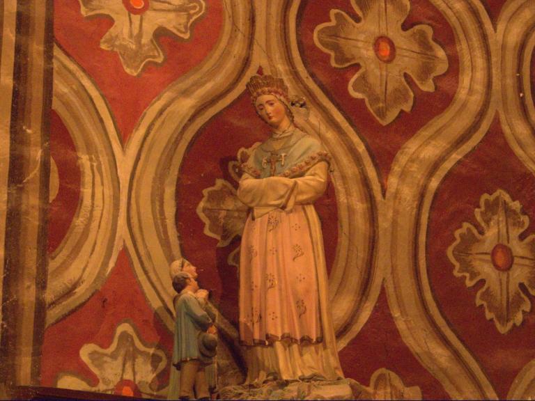 Notre Dame de la Salette et les enfants (Chapelle des Saintes)
