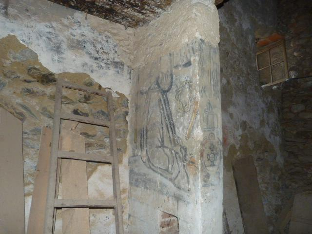 Intérieur de l'église - Peintures murales