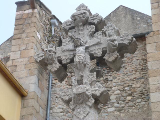 Croix gotique - Place del Ram -Détail