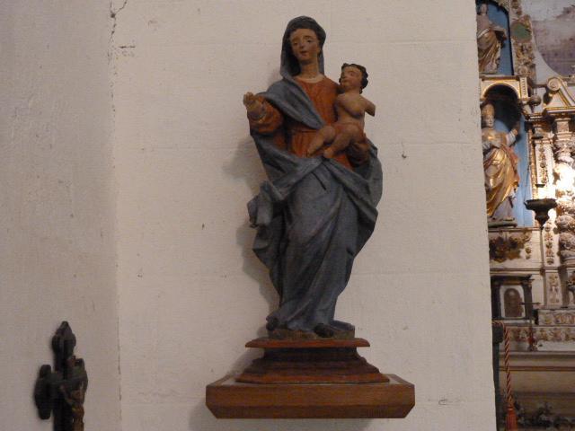 Vierge à l'enfant, restaurée en 2014