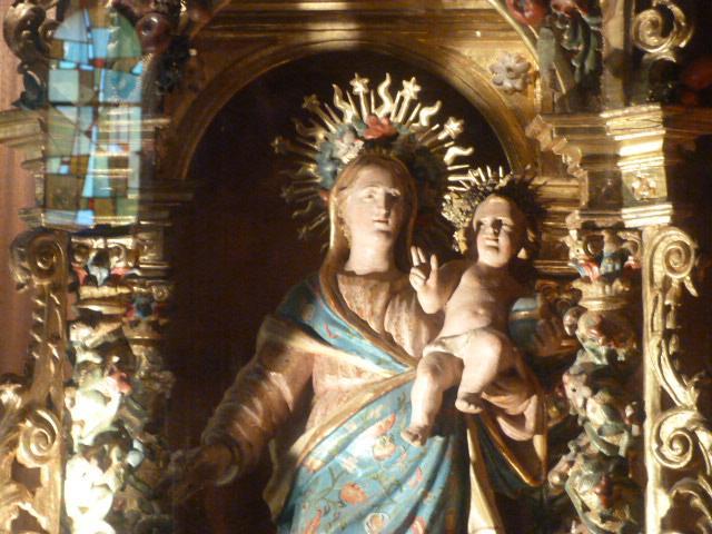 La Cadireta - Détail, La Vierge à l'enfant