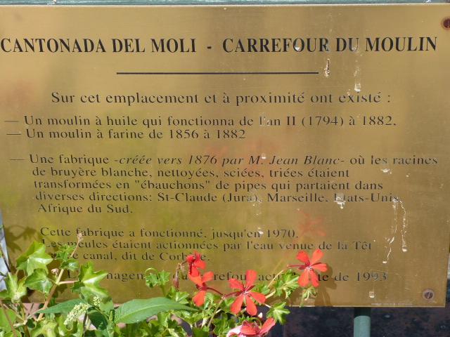 Plaque de la Cantonada del moli