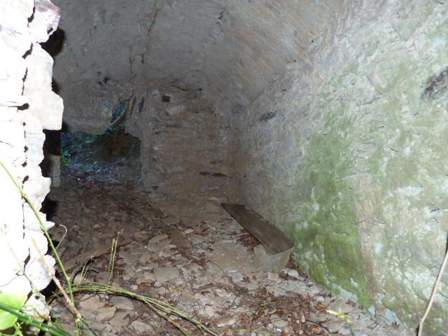 Pou del gel de Bouleternère -Intérieur du tunnel de l'entrée