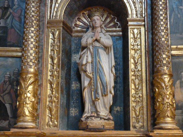 Retable du Rosaire - Détail