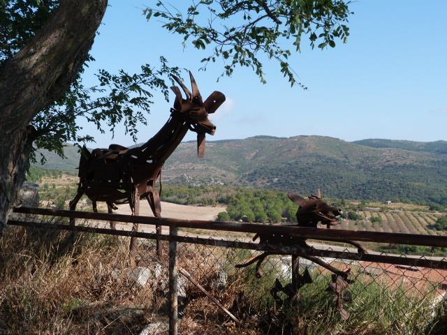Curieuses créatures métalliques - Les chèvres de Montalba