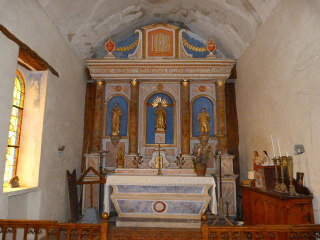 L'église Saint-Vincent de Mantet - Le retable