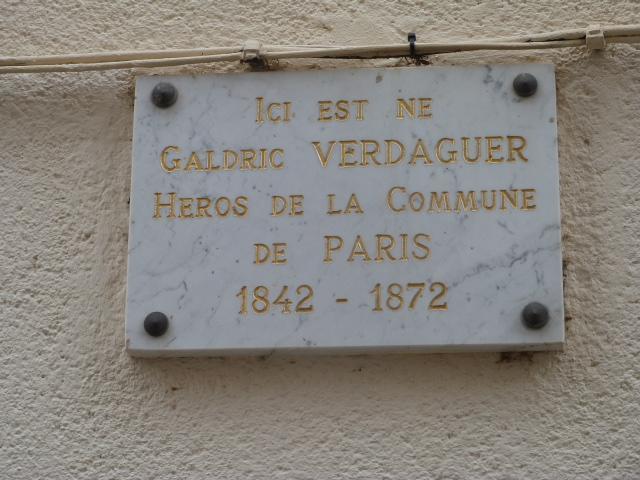 Plaque commémorative au 2bis Carrer de la Canal